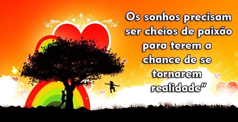 Para vencer é preciso se apaixonar pelos seus sonhos!